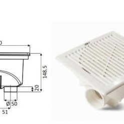p 1 4 0 8 1408 fenekurito Aquamax 250x250 mm D6375 ragasztos csatlakozoval